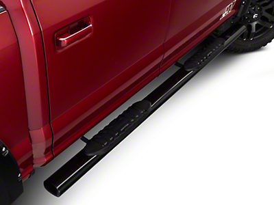 Barricade 5 in. Oval Straight Side Step Bar - Black (15-17 SuperCab)