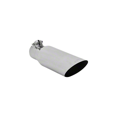 Flowmaster 3.5 in. Polished SS Angle Cut Exhaust Tip - 2.5 in. Connection (97-17 All)