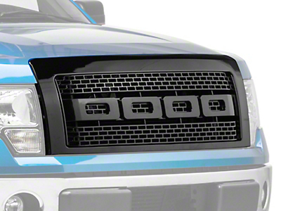 Barricade Raptor Style Upper Replacement Grille - Black (09-14 All, Excluding Raptor)