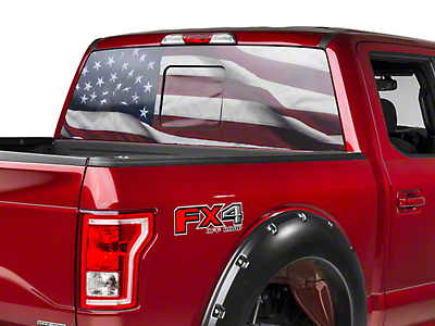 Perforated Real Flag Rear Window Decal (97-17 All)