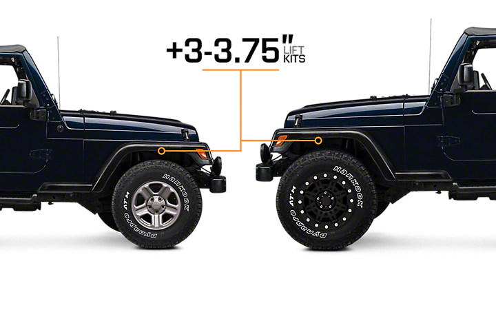 Jeep Wrangler Lift Kits >> 1997 2006 Jeep Wrangler Lift Kits Extremeterrain Free Shipping