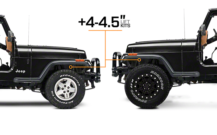1987 1995 jeep wrangler lift kits extremeterrain free shipping. Black Bedroom Furniture Sets. Home Design Ideas