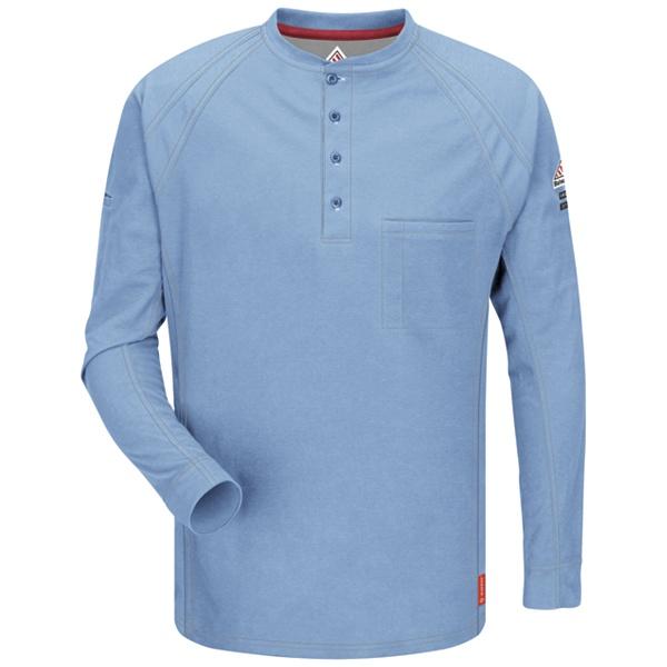 blue long sleeve henley