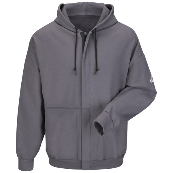 charcoal zip up hooded sweatshirt
