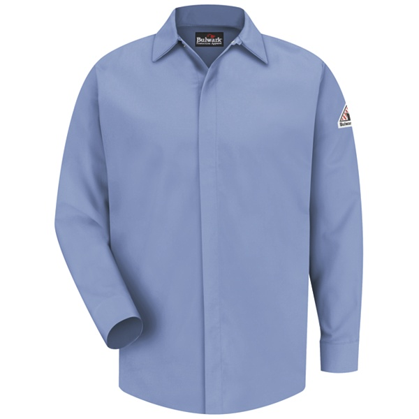 concealed gripper light blue shirt