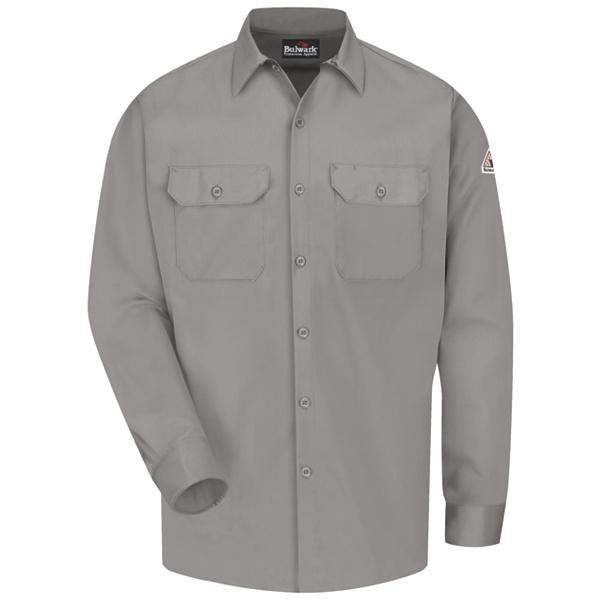 grey work shirt