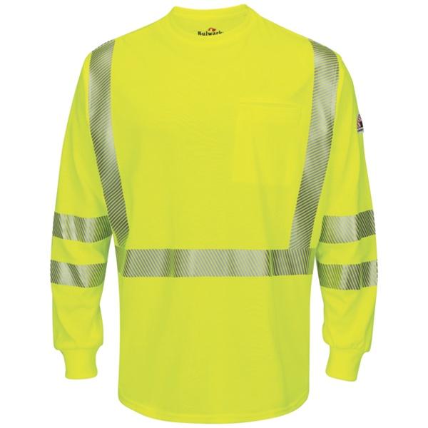 yellow hi-visibility long sleeve t-shirt