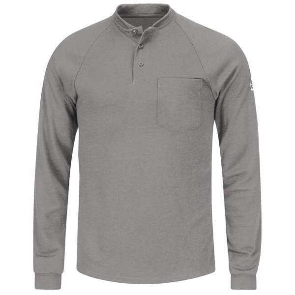 grey long sleeve henley