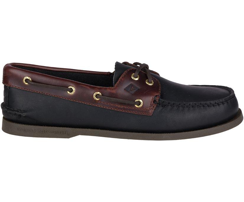 Authentic Original Leather Boat Shoe, Black Amaretto, dynamic