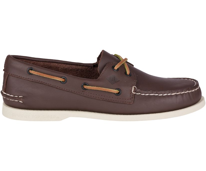 Authentic Original Leather Boat Shoe, Classic Brown, dynamic