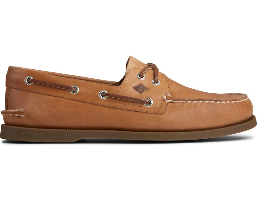 Authentic Original Leather Boat Shoe, Sahara Leather, dynamic