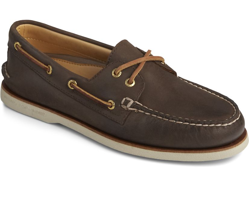 Gold Cup Authentic Original Boat Shoe, Brown, dynamic