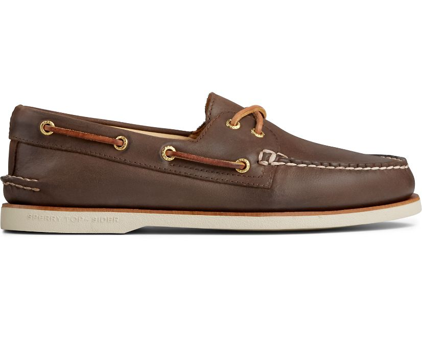 Gold Cup Authentic Original 2-Eye Boat Shoe, Brown, dynamic