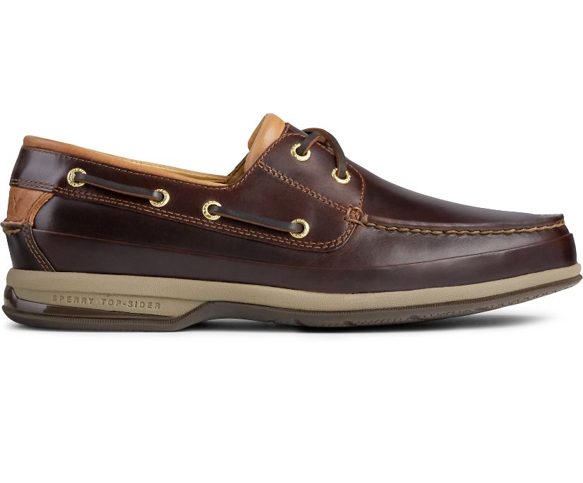 Gold Cup ASV 2-Eye Boat Shoe, Amaretto Leather, dynamic