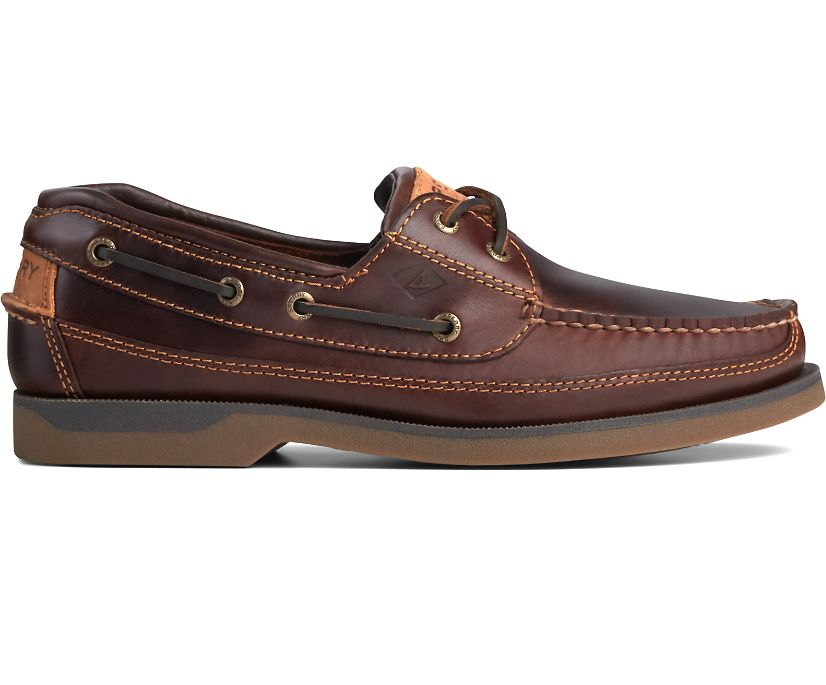 Mako Canoe Moc Boat Shoe, Amaretto, dynamic