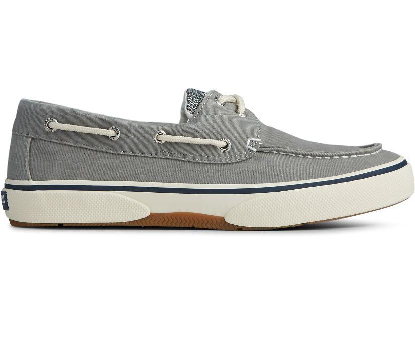 Halyard 2-Eye Boat Shoe, Saltwashed Grey, dynamic