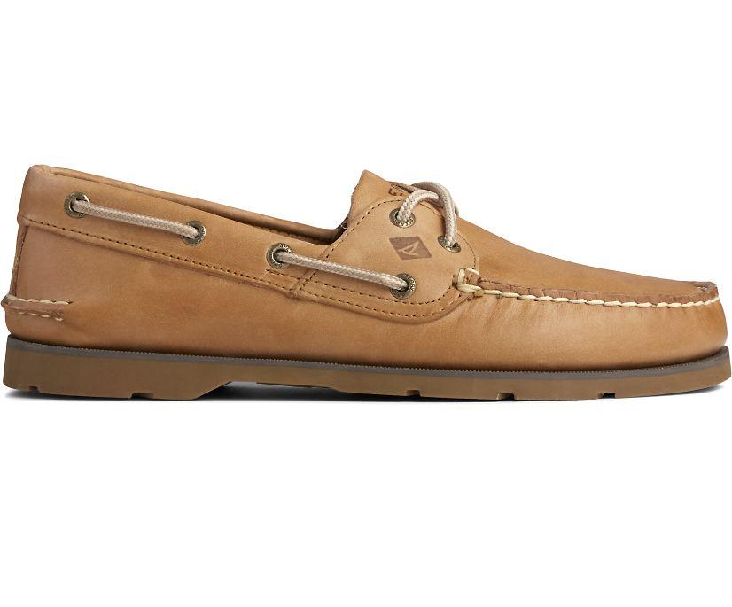 Leeward 2-Eye Boat Shoe, Sahara, dynamic
