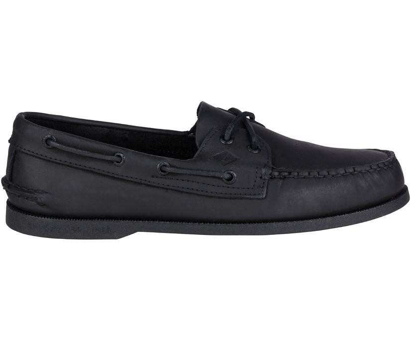 Authentic Original Leather Boat Shoe, Black, dynamic