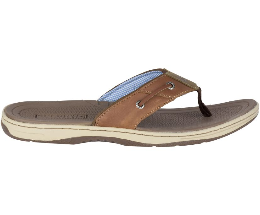 Baitfish Flip-Flops, Tan Leather, dynamic