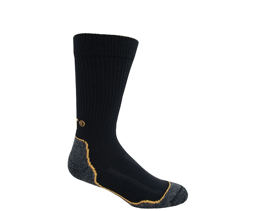 Cold Weather Work Sock 2-Pack, Black, dynamic