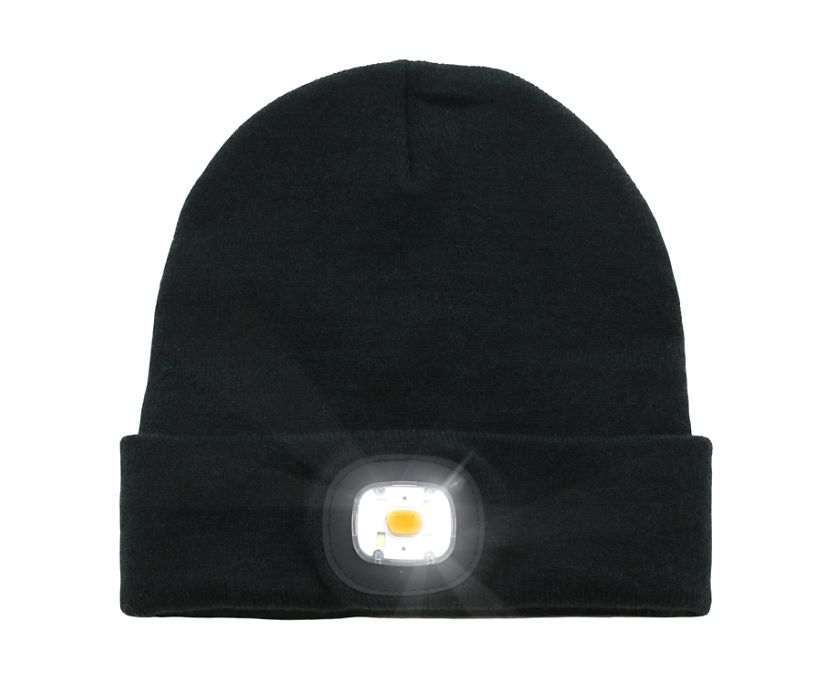 Flashlight Beanie, Black, dynamic