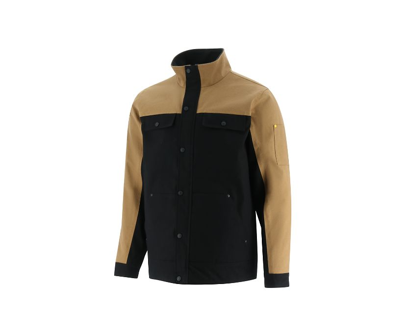 Insulated Utility Jacket, Black/Brown, dynamic