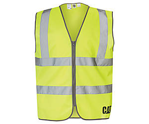 Hi-Vis Zip Vest, Bright Yellow, dynamic