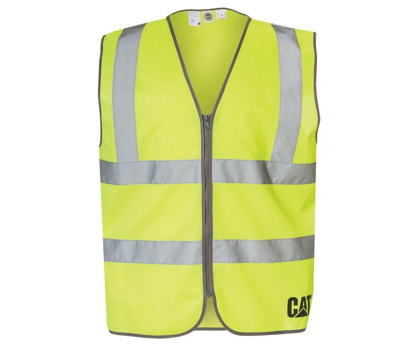 Hi-Vis Zip Vest, Bright Yellow, dynamic