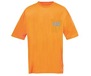 Hi-Vis Trademark Pocket Tee, Orange, dynamic