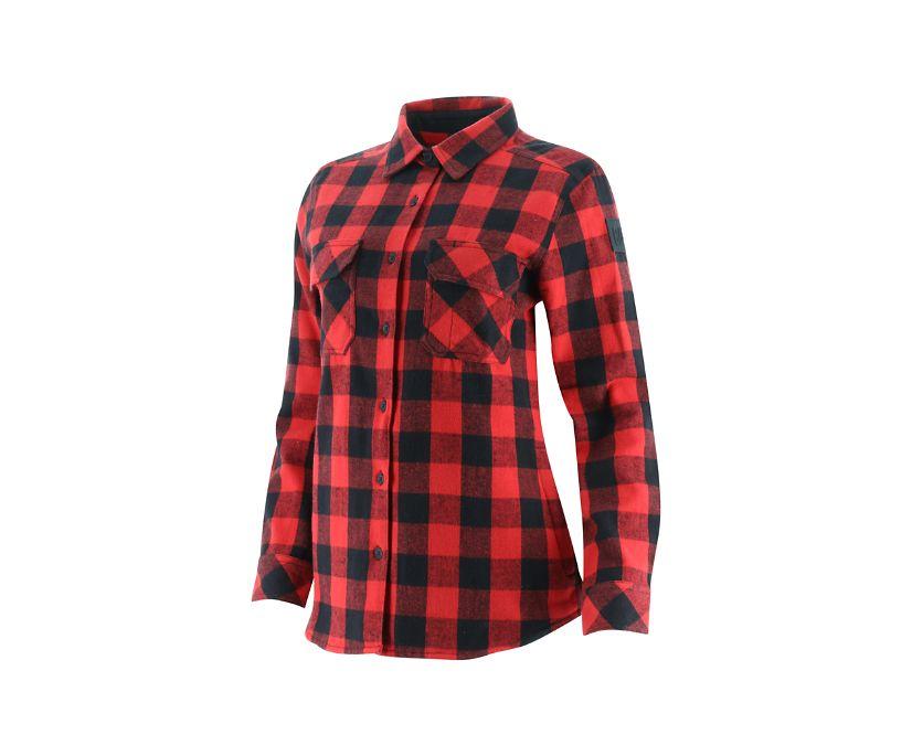 Buffalo Check Heavyweight Shirt, Red, dynamic