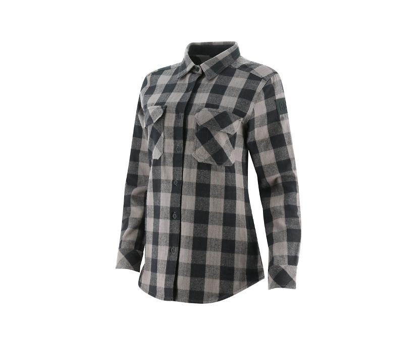 Buffalo Check Heavyweight Shirt, Black, dynamic