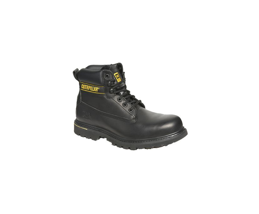 Holton Steel Toe SB FO HRO SRC Work Boot, Black, dynamic