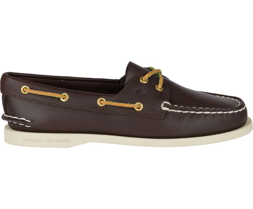 Authentic Original Boat Shoe, Classic Brown Leather, dynamic