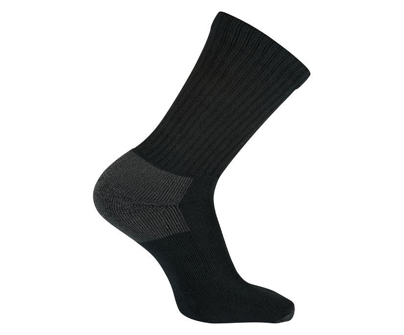 3-Pk Cotton Crew Sock, Black, dynamic