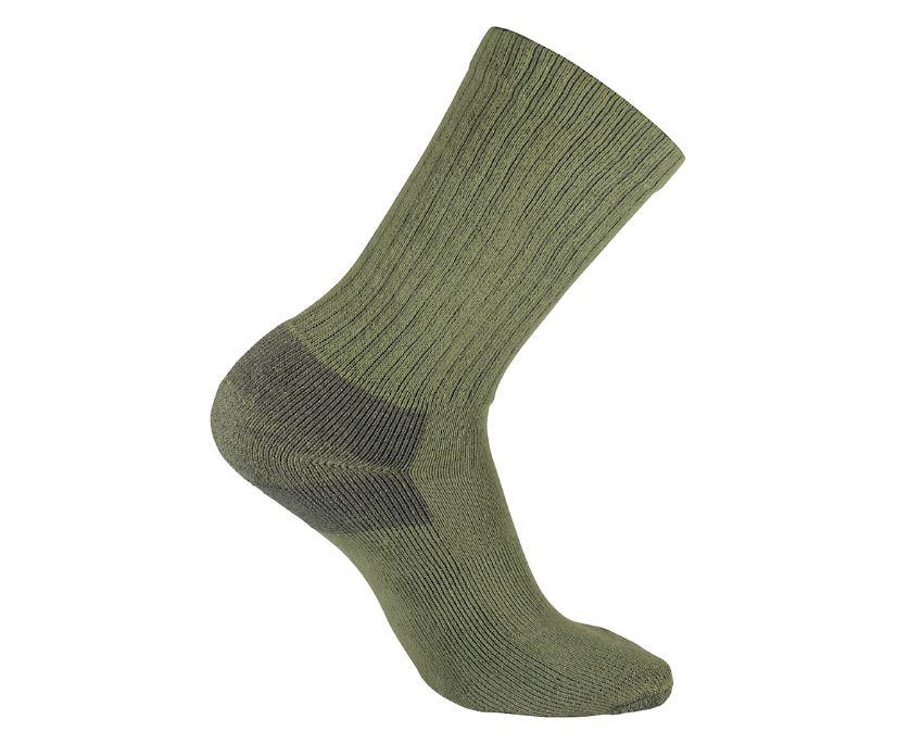 3-Pk Cotton Crew Sock, Sage, dynamic