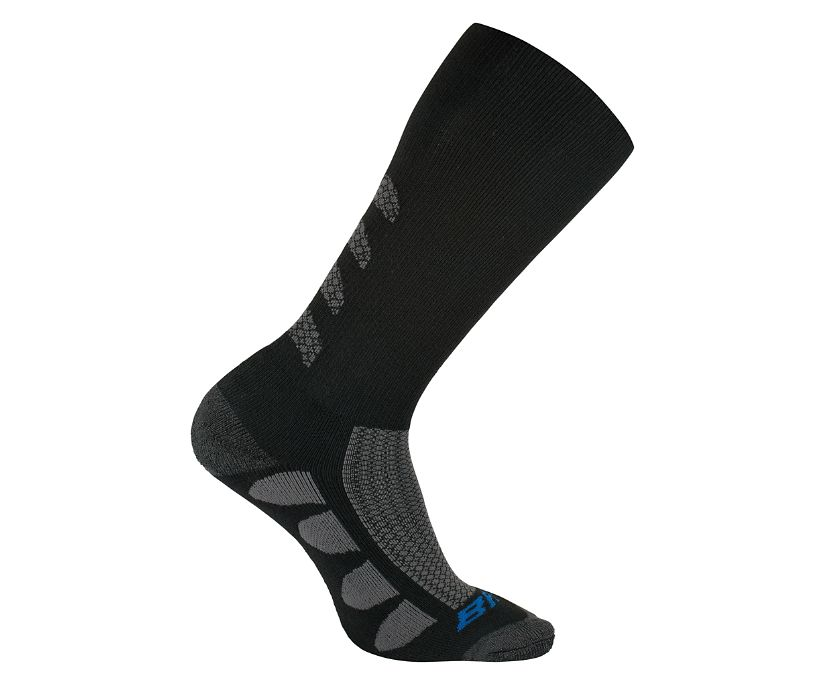2-PK EPS Moisture Wicking Sock, Black, dynamic