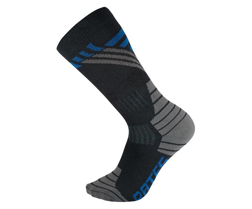 1-Pk Cushioned Performance Sock, Black, dynamic