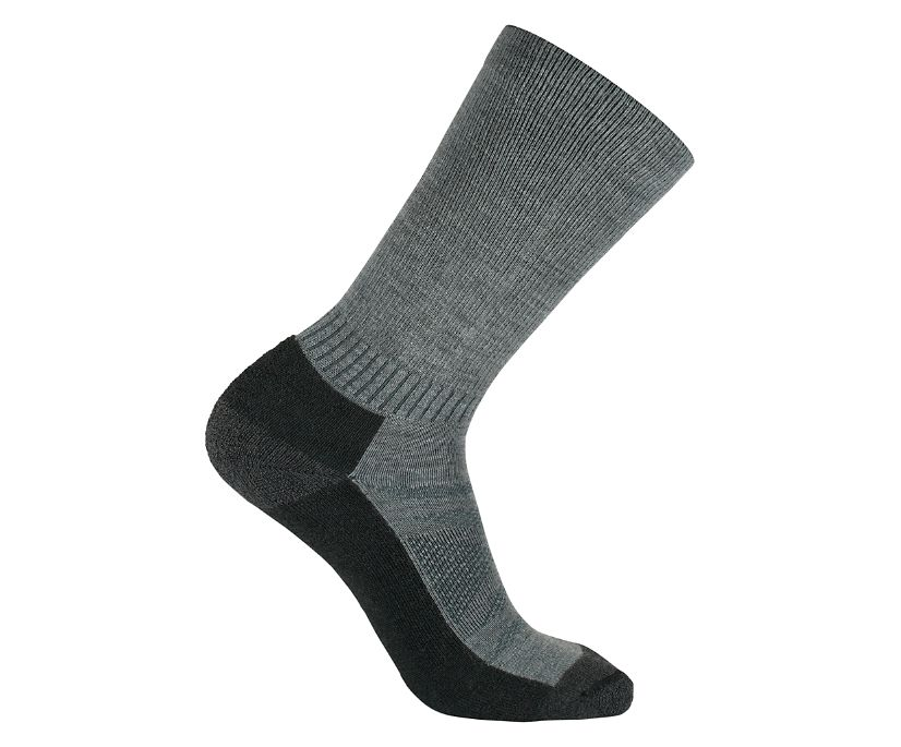 2-Pk USA Crafted High Mileage Wool Sock, Black, dynamic