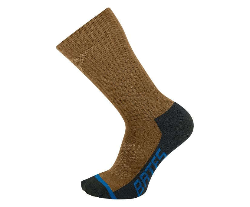 3 PK USA Crafted Tactical Sport Sock - Midcalf, Coyote Brown, dynamic