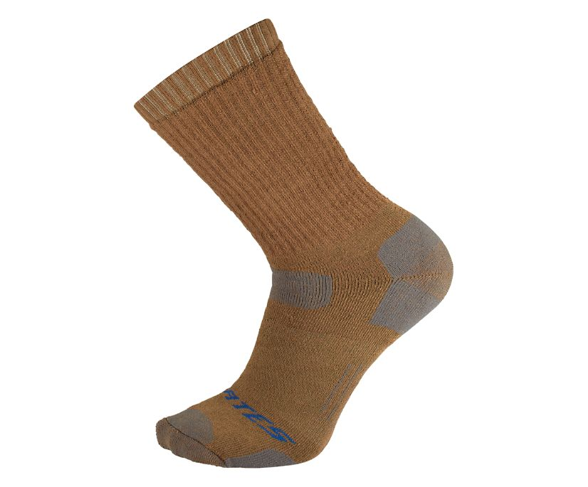 1-Pk Tactical Uniform Sock Mid-Calf, Coyote Brown, dynamic