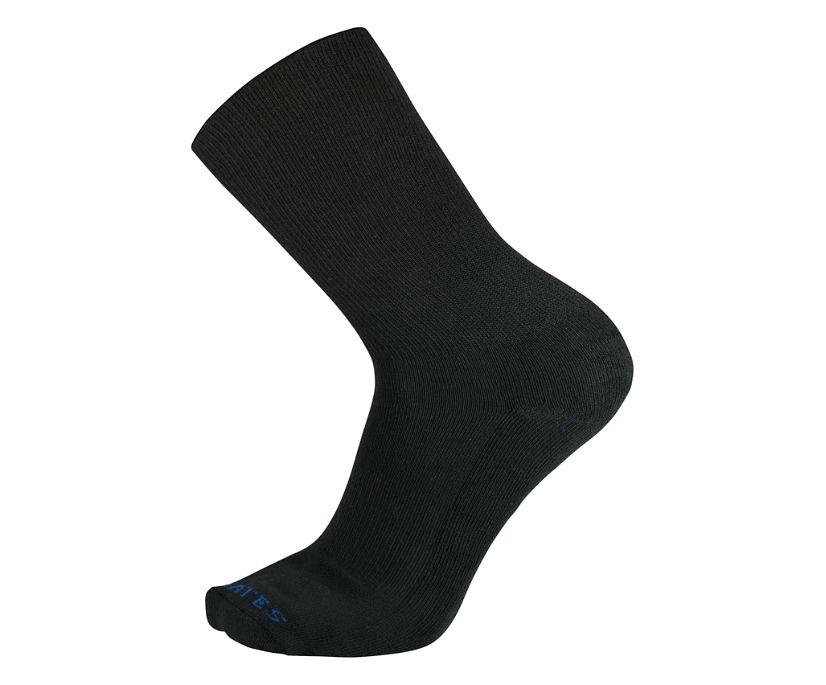 1-PK Uniform Dress Sock, Black, dynamic