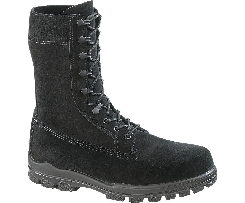 "9"" US Navy Suede DuraShocks® Steel Toe Boot, Black, dynamic"