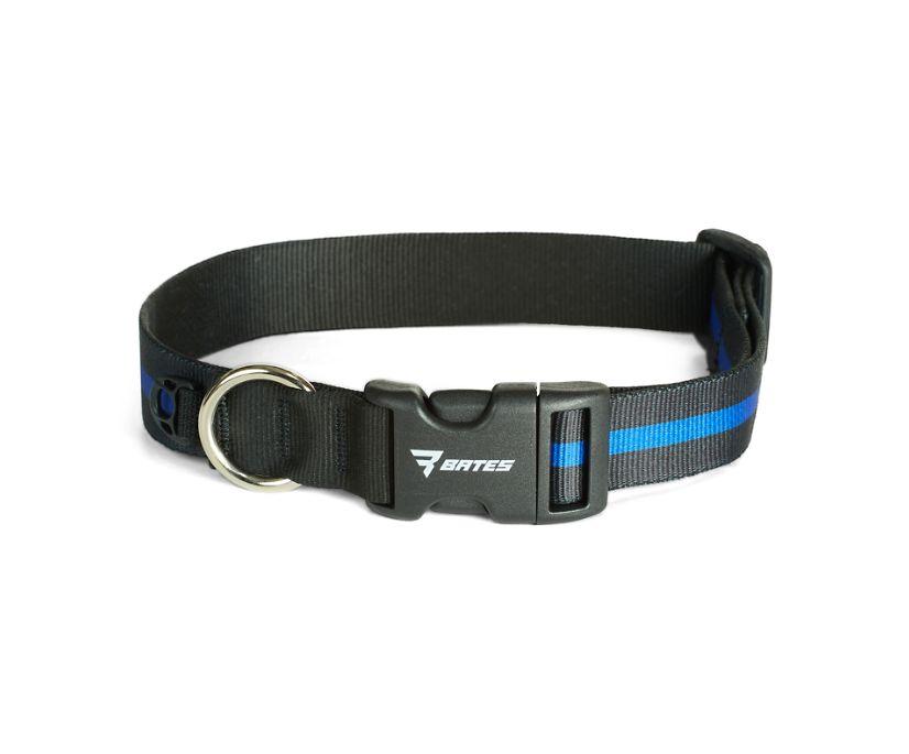 Thin Blue Line K9 Collar, Blue, dynamic