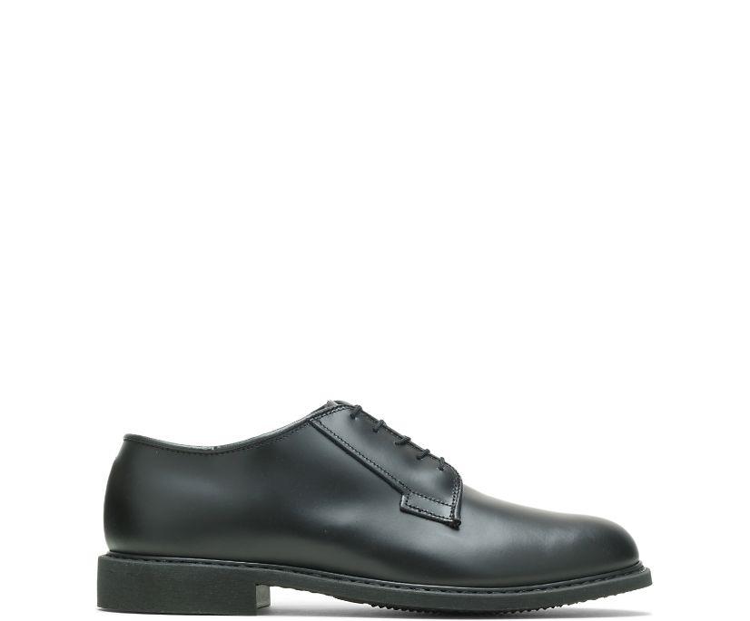 Leather Uniform Oxford, Black, dynamic