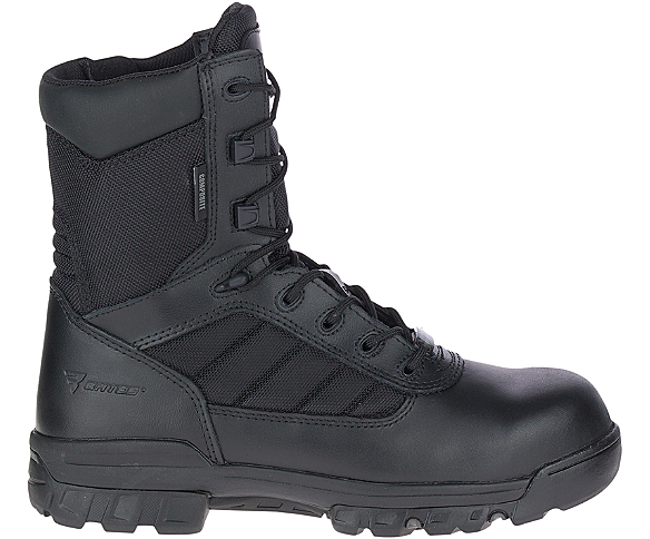 "8"" Tactical Sport Composite Toe Side Zip Boot, Black, dynamic"