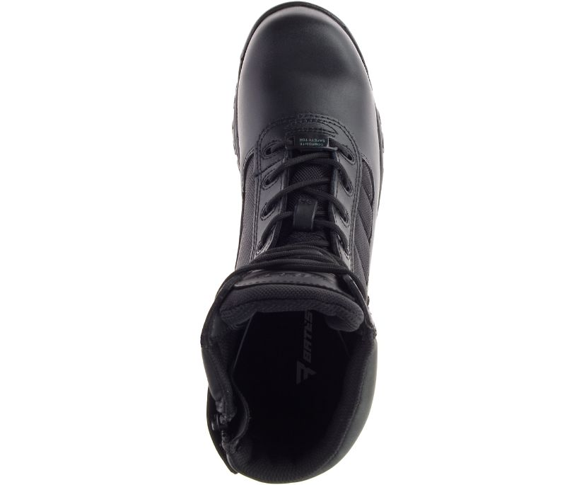 "8"" Tactical Sport Composite Toe Side Zip Boot, Black, dynamic"