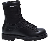 "8"" DuraShocks® Lace-to-toe Side Zip Boot, Black, dynamic"