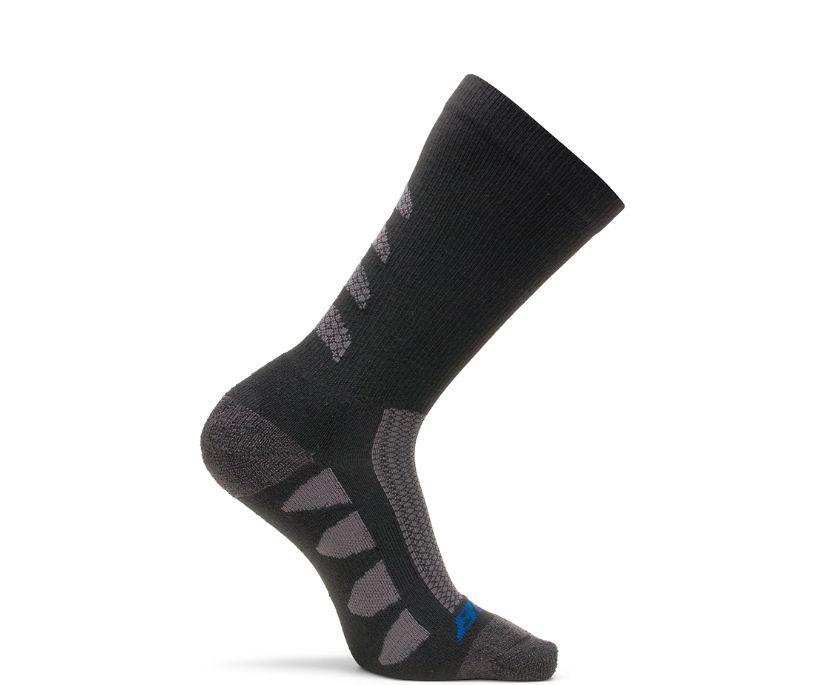 2-PK EPS Moisture Wicking Sock, Black, dynamic