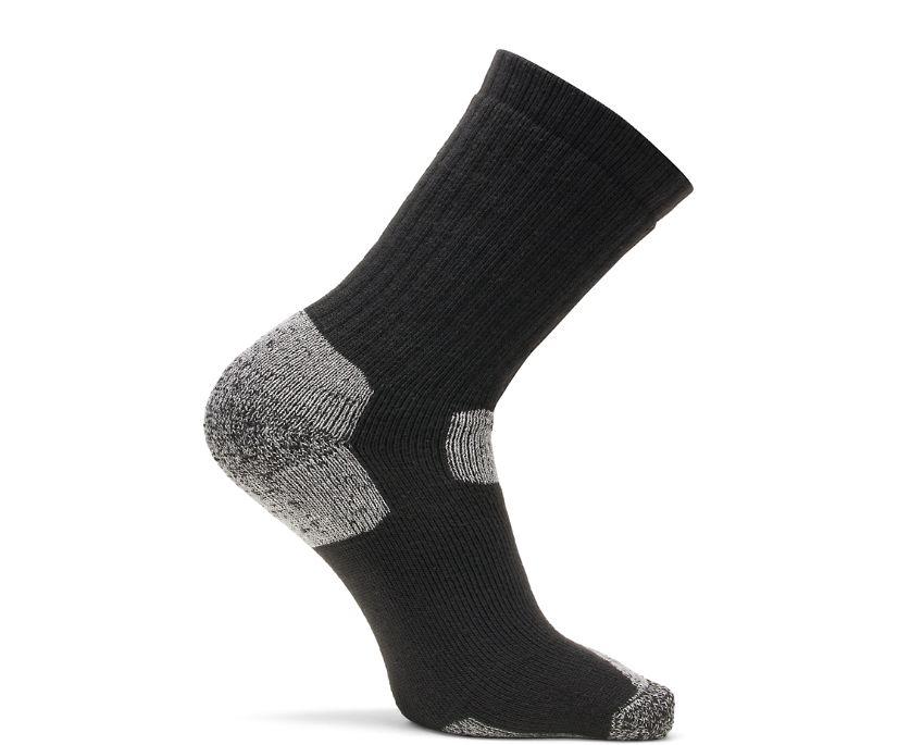 2-PK Utility Crew Sock, Black, dynamic