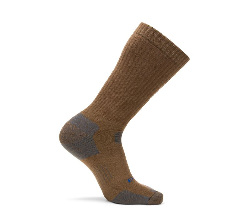 1-PK Tactical Uniform Over the Calf Sock, Coyote Brown, dynamic